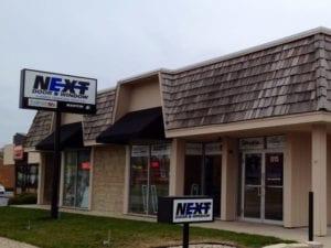 Naperville showroom storefront