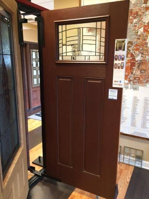 Naperville showroom galleries next door and window for Therma tru fiber classic mahogany price